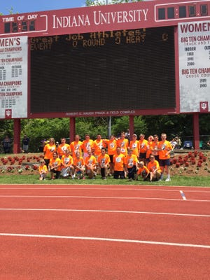 Harrison's Unified track and field team finished third in the state finals at Indiana University.