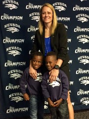 Amanda Levens with her sons David, left, and Davon
