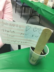 Petway Elementary School students grew marigolds and