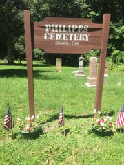 Most of those buried in the Phillips Cemetery were interred in the 1880s.