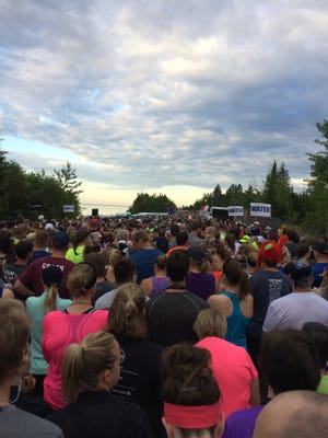 The Garry Bjorklund Half Marathon started at 6:15 a.m. along the shore of Lake Superior north of Duluth, Minnesota. More than 7,330 people finished the race.
