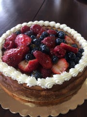 Strawberry shortcake with  mixed berries from Sugar Specialty Bake Shoppe in Brielle.