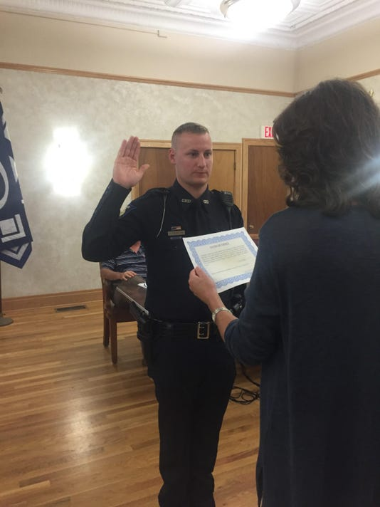 police swearing in
