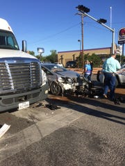 Another perspective of this morning's wreck at 19th