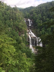 Whitewater Falls in the Nantahala National Forest is