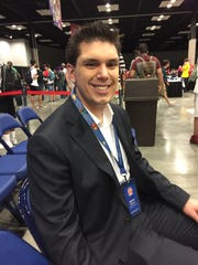 Kyle Sucevich is a commentator at the Pokémon North American International Championships.