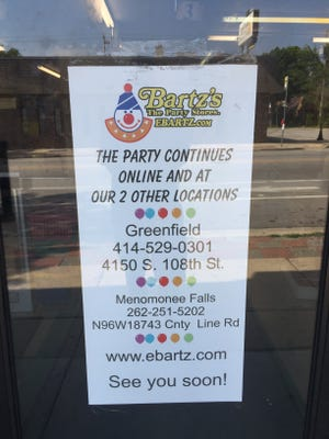 Bartz's has closed its location in Wauwatosa at 6931 West North Ave.