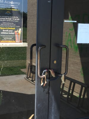 Vandals placed bacon over door handles at Islamic Center of Murfreesboro on Sunday night or Monday morning. Muslims do not eat pork. The vandals also spray-painted the exterior in three spots. The damage was discovered early Monday morning, July 10, 2017.