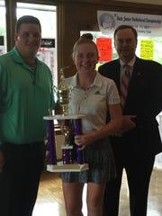 Sarah Willis of Eaton is awarded the Ohio Junior Girls
