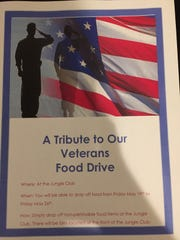 The flyer Baudo designed for his food drive.