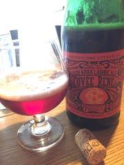 Lindeman's sour cherry bottling Oude Kriek Cuvée Réne is a lambic style of Belgian beer.