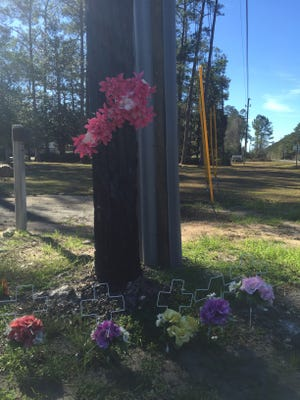 A roadside vigil has been set up near the intersection of Woodville Highway and Highway 98 in Wakulla County, the site of a fatal crash on July 2, 2016. Elie Dupiche, The driver of a bus full of migrant workers from Belle Glade, crashed into a semi-truck that killed four people Dupiche was cited fr failure to yield at an intersection and ordered t pay a $4,500 fine in June.