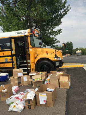 This year, the United Way has three buses ready to be loaded with school supplies for the Stuff the Bus drive.