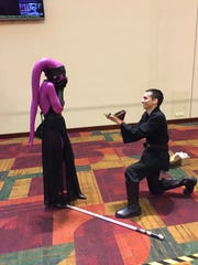 Dylan Howard proposes to Judy Vidal at Gen Con in Indianapolis