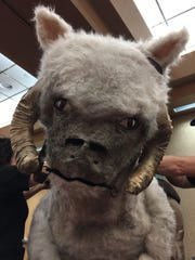 The tauntaun's face was the most challenging to make, according to Kendalyn Johnson (pictured) and her mom, Lisa Hutchinson, both of Greentown, for GenCon on Saturday, Aug. 19, 2017.