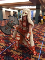 Carly Monsen, of Boston, made an armored Ninetails for GenCon on Saturday, Aug. 19, 2017.