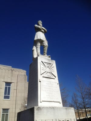Five groups will rally Aug. 23, 2017, for the removal of a statue of Confederate Gen. Alfred Mouton from city property in downtown Lafayette, Louisiana.