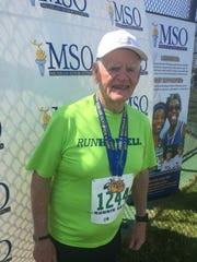 David Dugger, 78, of Howell, competed in multiple track