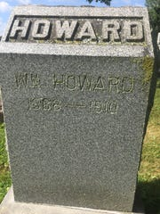 The grave of William Howard, ex-Newark police officer turned bar owner, whom Carl Etherington fatally shot in self-defense in 1910.