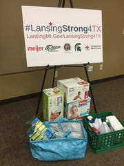 LansingStrong4TX board displaying sponsors