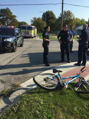 A 31-year-old Port Huron man was injured when a car that failed to yield at Reid Street and Electric Avenue struck his bike.