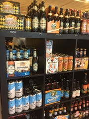 Oktoberfest beers are available and filling shelves