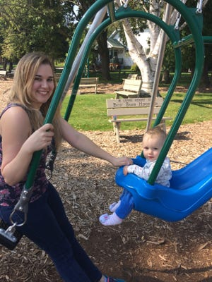 Kendall Weisgerber Memorial Park offers an adult-and-child swing, allowing caregivers to enjoy the ride alongside the children.