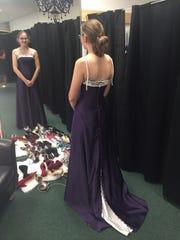Kiera Biland, a Byron High School junior, in a gown
