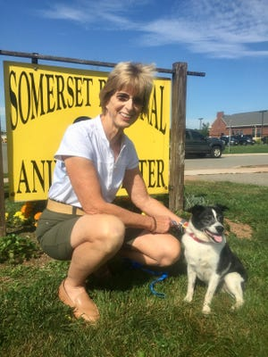 Ralphie, an eight-year-old terrier mix, was recently adopted by Gov. Whitman.