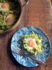 Brussels sprouts, eggs and Pleasant Ridge Reserve team