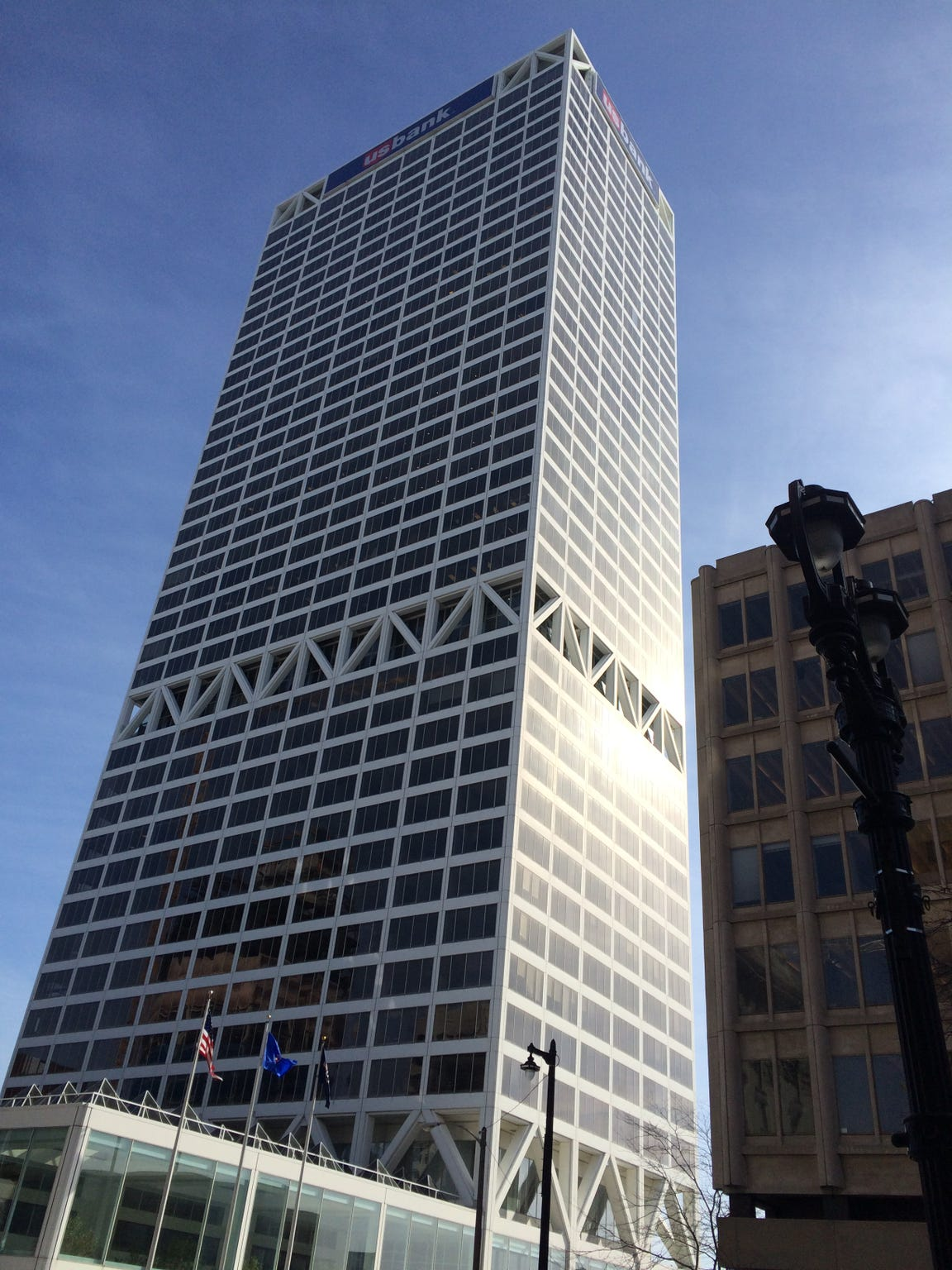 The U.S. Bank building is a familiar staple in the Milwaukee skyline.