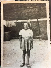 Frances Cutler Hahn around age 7 at a farm where she hid with other Jewish children in France during Nazi occupation