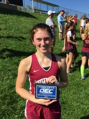 Newark senior Mackenzie Morton placed fourth at the OCC-Capital meet, earning all-league honors.