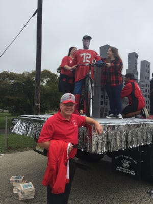 Vineland High School Principal Tom McCann noted something familiar about the sophomore Homecoming float.