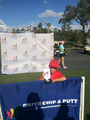 Nate Batson recently placed fifth in the Drive Chip Putt Regionals.