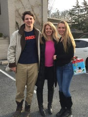 Sally Prendergast and her son, Jack, a sophomore at Syracuse University, and daughter, Sarah, who is taking a gap year to work with charitable projects in East Africa and Asia.