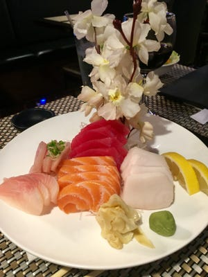 The sashimi platter at Sake, 731 Main St., Lafayette.