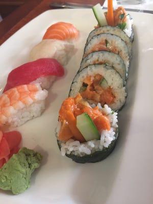 Crave's spicy tuna roll and nigiri sushi.