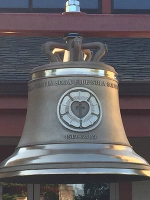 The Lutheran Church of the Resurrection in Anderson Township dedicates its new Reformation Bell Oct. 29 as part of the Reformation Day observance.