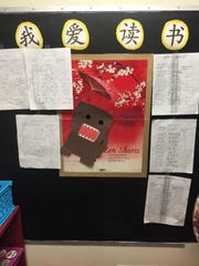 A poster featuring the popular Japanese cartoon character