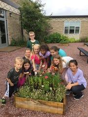 Weston Elementary's meditation garden also serves as an outdoor classroom.