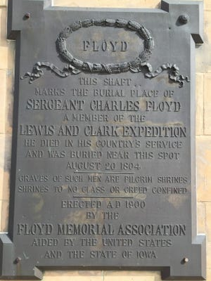 Sergeant Floyd's remains have been moved four times since he was interned with full military honors by Lewis and Clark on Aug. 20, 1804.