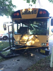 A school bus was involved in a crash on Winkler Road
