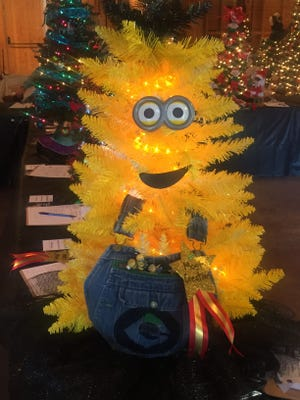 """A """"minion"""" tree at Habitat for Humanity's annual fundraiser."""