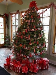 Christmas trees with handmade ornaments figure prominently
