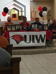 Alice's R.J. Galvan signs to play baseball at the University of the Incarnate Word on Wednesday, Nov. 8.