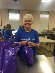 Food Bank for Westchester volunteer Eileen Walsh.