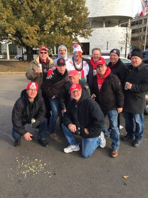 Members of the 1973 Gibsonburg Golden Bears, the undefeated champions of the Suburban Lakes League, reunited before the Ohio State vs. Michigan State game in Columbus.