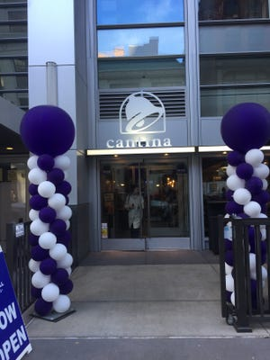 The Taco Bell Cantina located Downtown on Sixth Street near Walnut Street opened Monday.