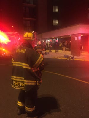 """Vineland firefighters called their response to Kidston Towers Thursday evening a """"salvage"""" operation due to a sprinkler activation."""